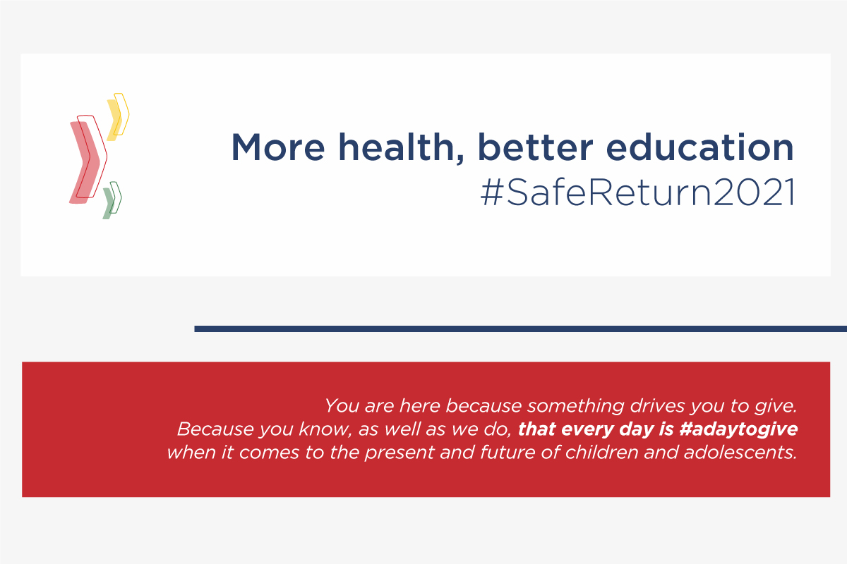 More health, better education #SafeReturn2021